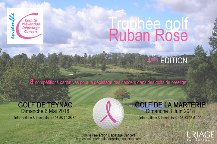 TROPHEE GOLF RUBAN ROSE